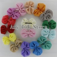 baby apparel boutique - New style Baby Girls Boutique hair Bows chiffon bows WITH hair clips for Apparel ornament accessories120pcs HJ030 cm