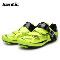auto lock buckle - SANTIC Men Cycling Shoes Road Nylon Bottom Auto lock Bicycle Bike Shoes Zapatillas Ciclismo Carretera Breathable Skidproof Chaussure Velo