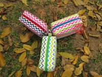 chevron bag - New stylish multi colors chevron cosmetic bag zigzag polyester women s makeup bag