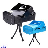Wholesale Mini mW LED Laser Stage Lighting Green Red Auto Strobe Voice activated DJ Laser Light Stage Projection Lights