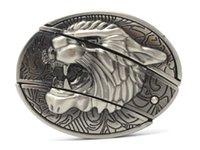 western belt wholesale - Fury Leopard Head With Knife Western Belt Buckle Cool Hip
