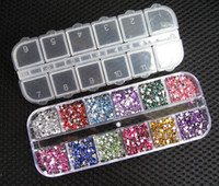 Wholesale New Mix Colors mm Circle Beads Nail Art Rhinestones Glitters Nail Art Gems Decoration HS21040