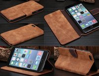 pocket books - Retro Vintage Wallet Leather Case Cover Pouch with Stand Credit Card Holder for iPhone G Plus S S G Book Style Cases