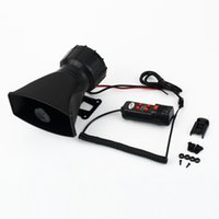 Wholesale Van Truck PA System W Loud Horn V Car Siren Auto Max dB Sounds tone Free Drop Shipping