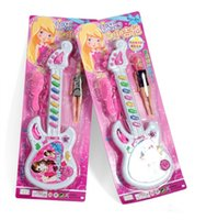Wholesale New girl baby learing music toys best birthday gift guitar toys