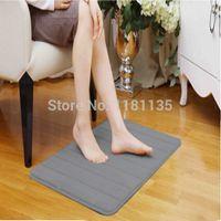 Wholesale New High Quality Silver Gray Soft Microfiber Suede Memory Foam Non Slip Bath Mat Outdoor Door Carpet Doormat