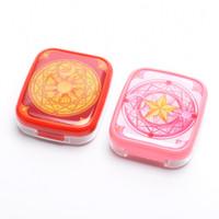 Wholesale Anime Cardcaptor Sakura Eyewear Case Cosplay Props Magic Circle Pattern Contact Lens Box for Girls Gifts