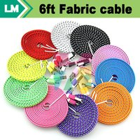 Cheap Colorful Flat Fabric Cable Best Universal  Nylon Cable for phone