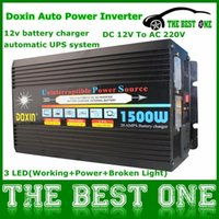 Cheap Doxin Inverter 1500W (3000W Peak) UPS 220V AC,12V DC,20A Charger, Household Appliance & Car Power Inverter 1500 Watt Fast Charge
