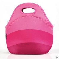 Wholesale 100 Neoprene lunch bags cooler insulation lunch bags for women thermal bag lunch box for kids tote handbag colors