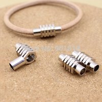 Cheap Inner size 6mm fitting leather cord 10pcs lot rhodium copper magnetic clasp for DIY jewelry F1017