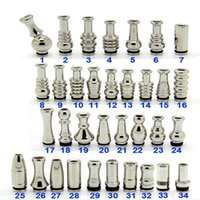 Wholesale Electronic cigarette atomizer drip tips all kinds of stainless steel drip tips fit RDA RBA RTA Atomizer