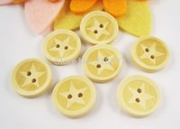 Cheap 12pcs 20*20MM 2-Holes Wooden Buttons Mixed Color Star Shape Clothing Accessories004006016