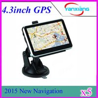 Wholesale 4 Inch GPS Navigator MTK MHz Free Maps FM MP3 MP4 Player RW GN02