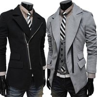 Cheap Men men jacket Best Button Up Collar Long Sleeve men coat