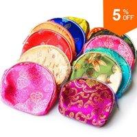 Cheap 30 PCS Women Handbag 2015 New Fashion Purse Female Jewelry Gift Chinese Silk Pouch Wallet Coin Purse Random Color Bag EG12