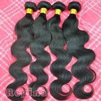 Cheap 5A Grade Brazilian Virgin Hair body wave 4pcs lot 100% Human Hair weft Brazilian hair bundles RG Hair Products Free Shipping