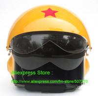 air force visor - DOT ECE TK Chinese Military Air Force Jet Pilot Casco Half Face Motorcycle Helmet amp Visor Adult M L XL