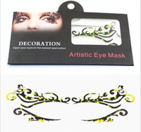 masquerade decorations - Esnaview New Artistic Sexy Foxy Special Style Paper Face Eyeshadow Mask Sticker Masquerade Decoration Reusable For Birthday Party