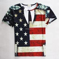 american flag t shirt - tshirts new fashion men women d graphic tees shirt printed american flag t shirt Casual crewneck harajuku t shirt top
