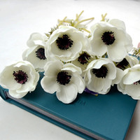 anemone wedding bouquet - DES FLORAL Decoratve Flowers Real Touch Anemone for Bridal Bouquet and Wedding Decoration More Colors