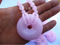 Wholesale Lavender Jade Purple Jade Malay oversized sweater chain necklace peace buckle lengthen