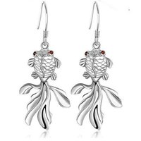 batch offering - sterling silver earrings Korean female earrings carp high end platinum plating mixed batch special offer today