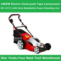Wholesale Garden Power Tools W Electric Hand push Type Lawnmower SD with Extra Blade m Power Extending Line Sier mower m2 working area