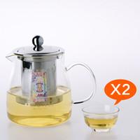 Wholesale Kamjove a tea cup tea pot elegant cup glass tea set glass cup