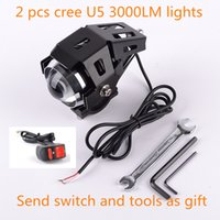 Headlights led headlight - 2pcs CREE U5 W LM Waterproof Motorcycle Boot LED Headlight High Power Spot Light with switch