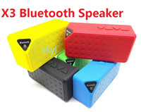 Wholesale mini Bluetooth Speaker X3 Wireless Portable Sound Box Subwoofer with Mic TF USB FM New for iPhone6 note4 Q88 DHL FREE