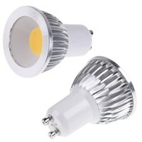 Wholesale 2 east GU10 W LED Spotlight Warm White Light K lm White Silver AC V quality