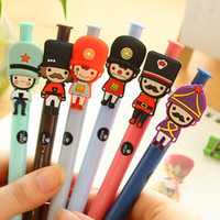 ballpoint pens uk - 6pcs Creative stationery lovely British soldiers ballpoint pen fashion UK London style cartoon ball pen for School Supplies free ship882