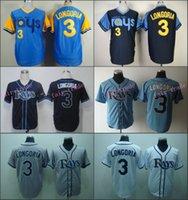 bay base - Evan Longoria Jersey White Blue Grey Tampa Bay Rays Cool Base Uniforms