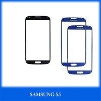 Wholesale S3 S5 Pebble Blue colorful Front Glass Outer Glass Lens Glass Touch Screen Cover Replacement Part Black White Outer Glass Panel Screen Cover