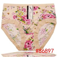 big old lady - Flora print old women big underwear plus size silk boyshort women brief high waist underpants stretch lady panties hot lingerie sexy ntimate