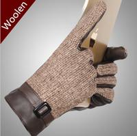 angora gloves - Hot Classic Designer British Style Brand female Winter gloves amp Mittens women Fashion Angora Wool warm Plaid glove for