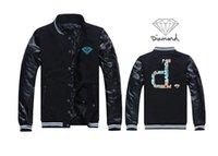 baseball jacket wool - Fall promotion man baseball college jacket diamond supply co varsity letterman winter dress wool
