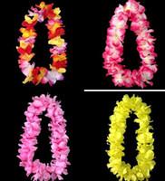artifical grass - wedding Party cheerleader decoration hawaiian Flower necklace wreaths Grass skirts accessories necklace artifical flowers gift drop shipping