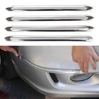 Wholesale 2014 Newest pc set Universal Car styling bumper strips Soft plastic anti rub Fashion Decorative Protect strips