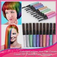 Wholesale 50pcs Hair Color Dye DIY Hair Cream Easy Set Mascara Professional Cream Temporary Soft Pastel