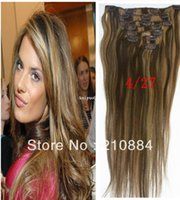 Wholesale Straight Clip In Virgin Brazilian Hair Remy Clip in Human Hair Extension quot quot quot quot Clips Color g g Set