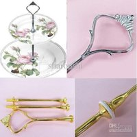 Wholesale Cake Stand Wedding Party Handles Gold Silver Cake Stand Fittings Tier Cake Stand Centre Handle