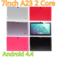 Wholesale Q88 A23Tablet Pc HOT Cheapest Q88 Tablet PC Boxchip Allwinner A23 Ram M ROM G Dual Camera Android Kitkat Pink White Blue Black Red
