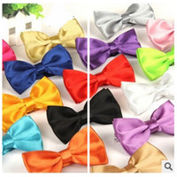 best bow ties for men - Shinny Solid Color Bow Tie Adjustable Adult Butterfly Tuxedo Polyester Bowtie For Men Colors Available Best Gift For Men