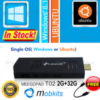 atom ubuntu - Meegopad T02 Mini PC Ubuntu or Windows OS HDMI TV Player Quad Core Intel Atom PC Stick MeeGoPad T01 Upgraded Media Player