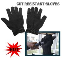 Wholesale Black Free size Cut Resistant Gloves Working Gloves Protective Anti Abrasion Safety Gloves with Harmless and Non toxic Materials