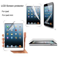 Wholesale 100pcs perfect solutions LCD protector screen guard clear screen protector for ipad mini ipad air ipad retail package