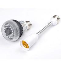 Acheter Ampoules pour appareil photo-Wifi Mini Ampoule Lampe Spy Cam HD 1080P P2P Bulbe Caché DVR Ampoule LED Caméra Avec IR Night Vision Détection De Mouvement Camcorde