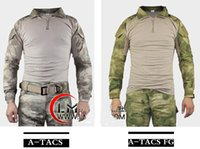 Safety Clothing   Tactical Mens TDU Rapid FROG II Gen 2 Military Combat Airsoft Paintball Hunting T Shirt Outdoor Sports Tight Tops W  Elbow pad Multicam